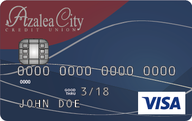 Azalea City Credit Union credit card design.